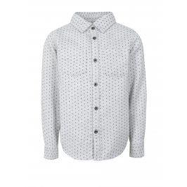 Světle šedá klučičí vzorovaná košile small rags Fabian