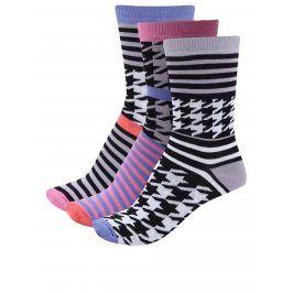 Sada tří dámských vzorovaných ponožek Oddsocks Kylie