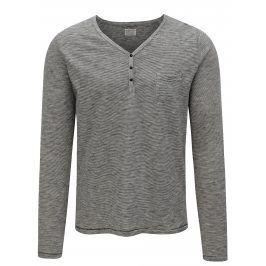 Modro-béžové pruhované tričko Dstrezzed