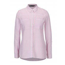 Bílo-růžová pruhovaná košile s kapsami Dorothy Perkins