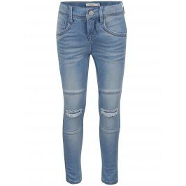 Světle modré holčičí skinny džíny s potrhaným efektem name it Tammi