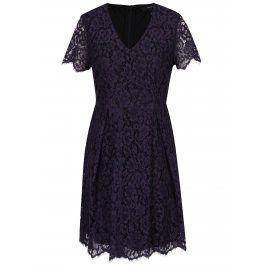Fialové krajkové šaty VERO MODA Ingrid