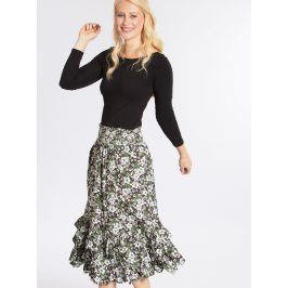 Zeleno-černá vzorovaná sukně Blutsgeschwister