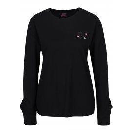 Černé tričko s dlouhým rukávem a výšivkou Juicy Couture