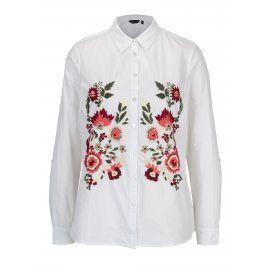 Bílá košile s vyšívanými květy Dorothy Perkins