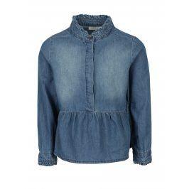Modrá holčíčí džínová halenka s volánkem name it Jenny