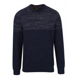 Tmavě modrý slim fit svetr s drobným vzorem Blend