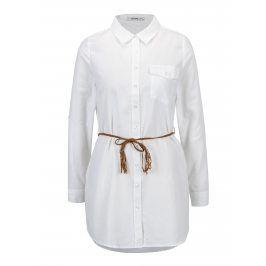 Bílá dlouhá košile s páskem Haily´s Larissa