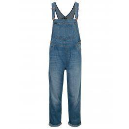 Modré dámské džínové lacláče s vysokým pasem Lee Loose