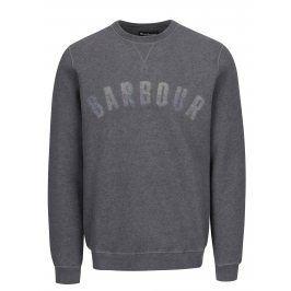 Šedá mikina s nápisem Barbour Logo Sweat