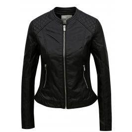 Černá koženková bunda TALLY WEiJL