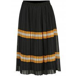 Černá plisovaná sukně VERO MODA Fiona