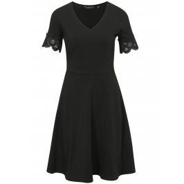 Černé šaty s krátkým rukávem Dorothy Perkins