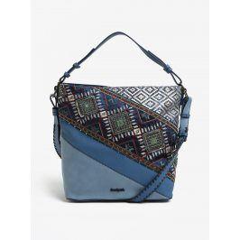 Modrá kabelka s vyšitými ornamenty Desigual Almira