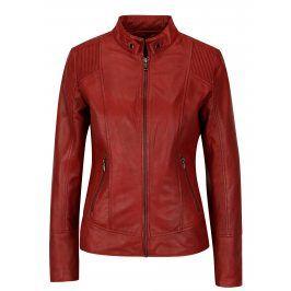 Červená dámská kožená bunda KARA Quime