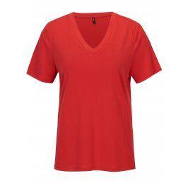 Červené volné tričko ONLY Venus