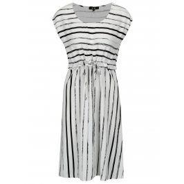 Černo-bílé pruhované šaty Yest