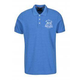 Modré pánské polo tričko s výšivkou loga Jimmy Sanders