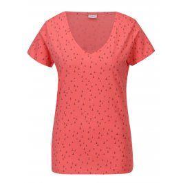 Korálové vzorované tričko Jacqueline de Yong Cassandra