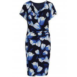 Tmavě modré šaty s tulipány  Smashed Lemon