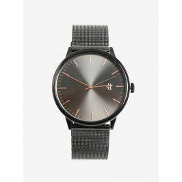 Tmavě šedé metalické unisex hodinky CHPO Nando