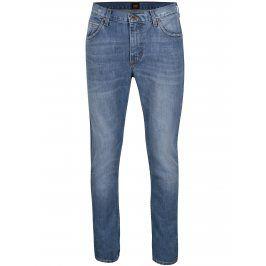 Modré pánské slim fit džíny s vyšisovaným efektem Lee