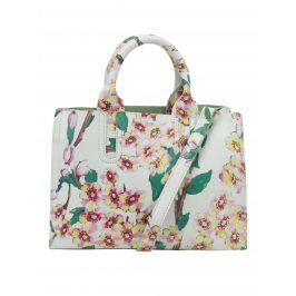 Krémová kabelka s potiskem květin Fez by Fez Tracolla Fiore