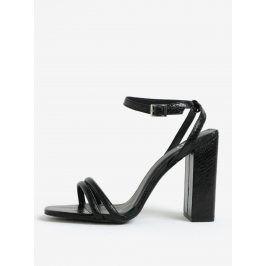 Černé sandálky na vysokém podpatku MISSGUIDED