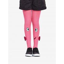 Růžové holčičí punčocháče s motivem ryby Penti Fish 40 DEN