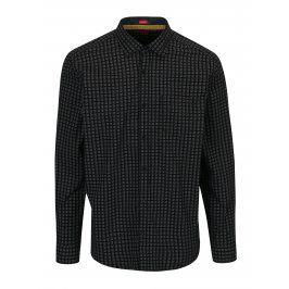 Černá pánská vzorovaná regular fit košile s.Oliver