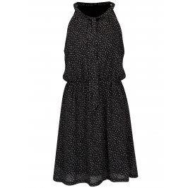 Černé vzorované šaty s mašlí Smashed Lemon