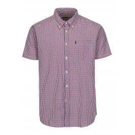 Modro-červená kostkovaná tailored fit košile Barbour Newton