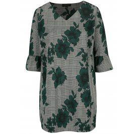 Zeleno-černá květovaná volná tunika Dorothy Perkins Curve