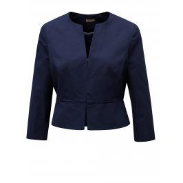 Tmavě modré dámské zkrácené sako M&Co