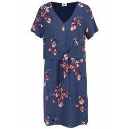 Tmavě modré květované těhotenské/kojicí šaty Mama.licious Fusion