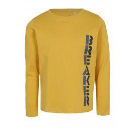 Žluté klučičí tričko s dlouhým rukávem name it Victor