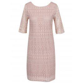 Starorůžové krajkové šaty VILA Rosie