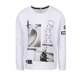 Bílé klučičí triko s potiskem name it Simpsons