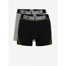 Sada dvou boxerek v černé a šedé barvě CR7