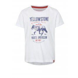 Bílé dětské tričko s potiskem LOAP Ibby
