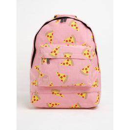 Růžový batoh s potiskem pizzy Mi-Pac Pizza 17 l