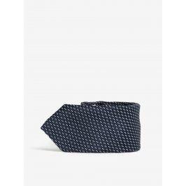 Tmavě modrá klučičí kravata s drobným pravidelným vzorem name it Mixi