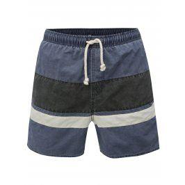 Šedo-modré pánské pruhované plavky Rip Curl