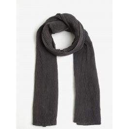 Tmavě šedý žebrovaný šátek ZOOT