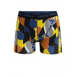 Modro-černé vzorované boxerky Jack & Jones Path