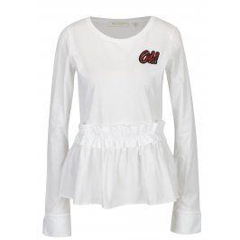 Bílé tričko s volánem Rich & Royal