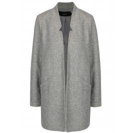 Světle šedý žíhaný lehký kabát VERO MODA Dafny