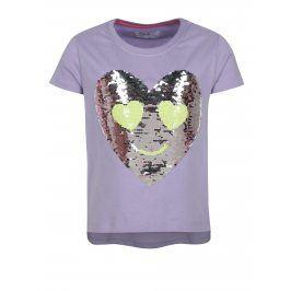 Fialové holčičí tričko s magickými flitry 5.10.15.