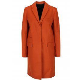 Oranžový vlněný kabát s příměsí kašmíru French Connection Platform
