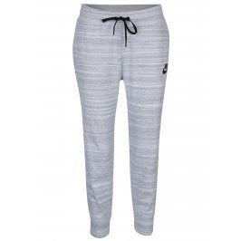 Světle šedé dámské žíhané tepláky Nike Sportswear Advance 15